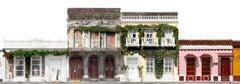 Calle del Guerrero, large color archival pigment panoramic photo. Cartagena
