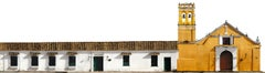 Casas No 1-57 Iglesia de San The Series Of Mompox, Medium Archival Pigment Print