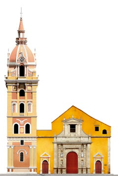 Catedral de Santa Catalina de Alejandria, large panoramic color photograph