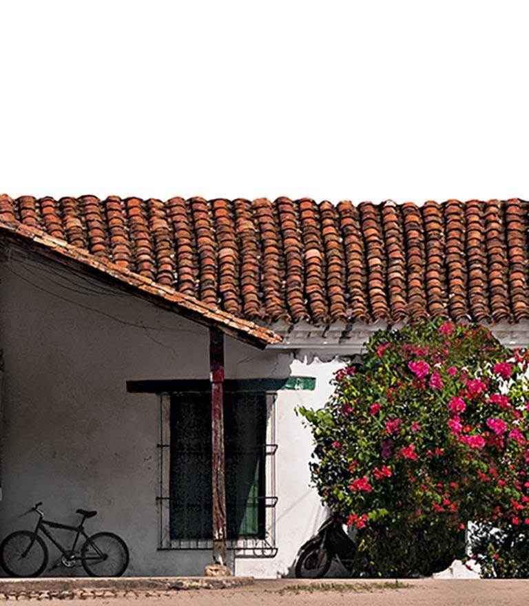 Portales de Santa Bárbara, Mompox, large archival pigment print  - Beige Color Photograph by Antonio Castañeda