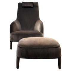 """Antonio Citterio Febo Armchair and Ottoman"""