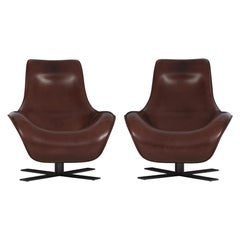 Antonio Citterio for B&B Italia Swivel Armchairs