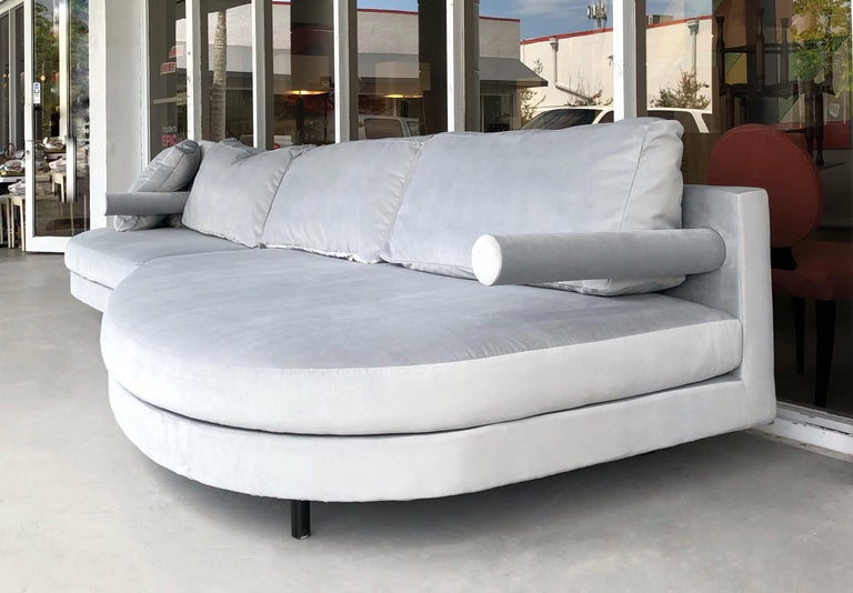 A wonderful sofa by Antonio Citterio. Super comfortable with down filled back cushions.  longer piece is 85
