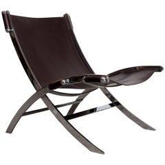 Antonio Citterio Lounge Chair in Chrome and Leather for Flexform