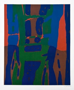 Abstract 1 - Original Lithograph by Antonio Corpora - 1969