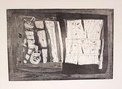 Abstract Composition - Original Etching by Antonio Corpora - 1969