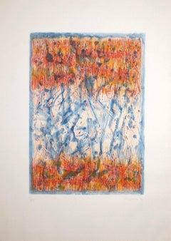 Abstract Composition - Original Etching by Antonio Corpora - 1977
