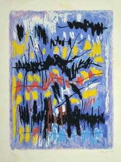 Abstract Composition - Original Lithograph by Antonio Corpora - 1970s