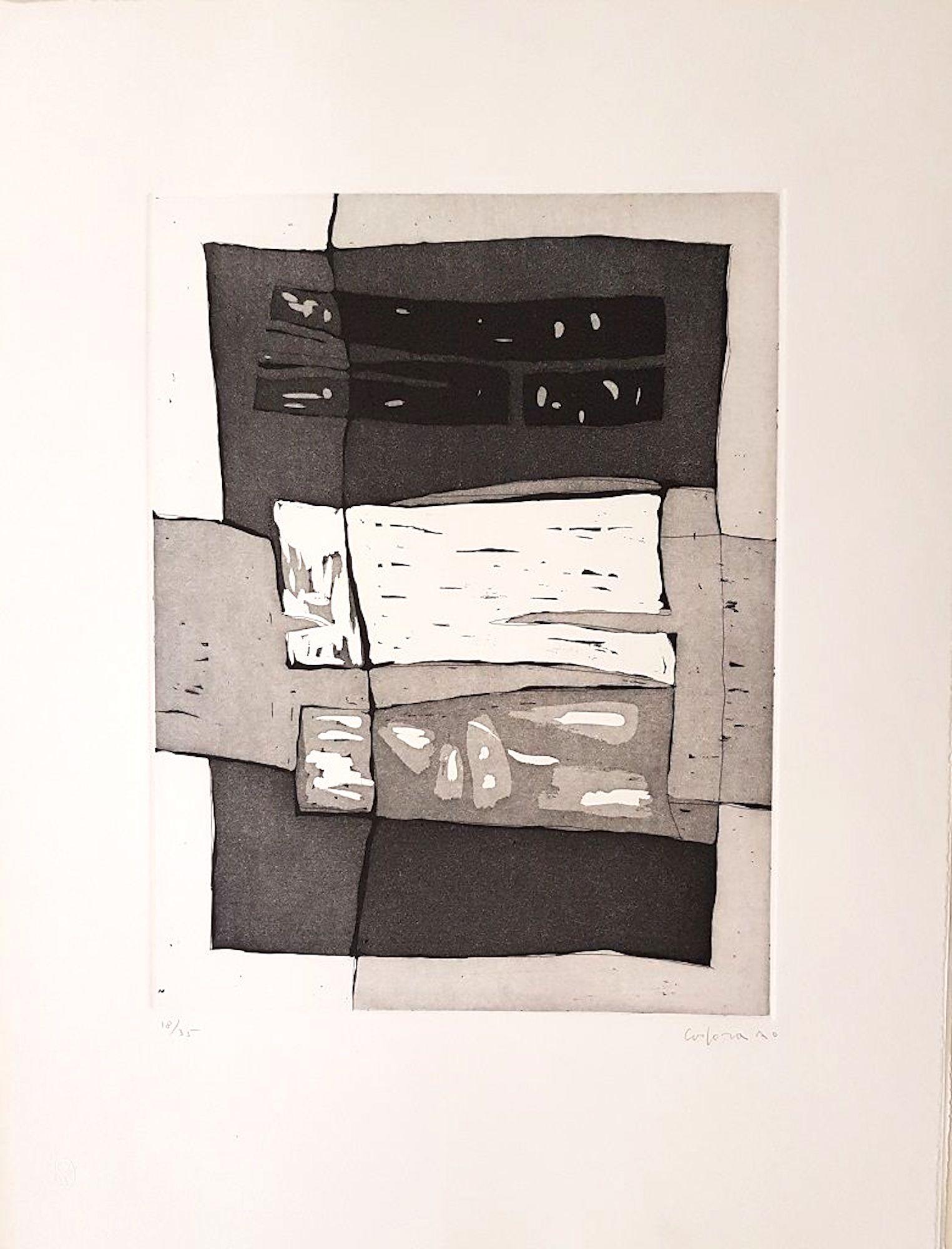 Untitled - Antonio Corpora - 1970s - Etching - Contemporary