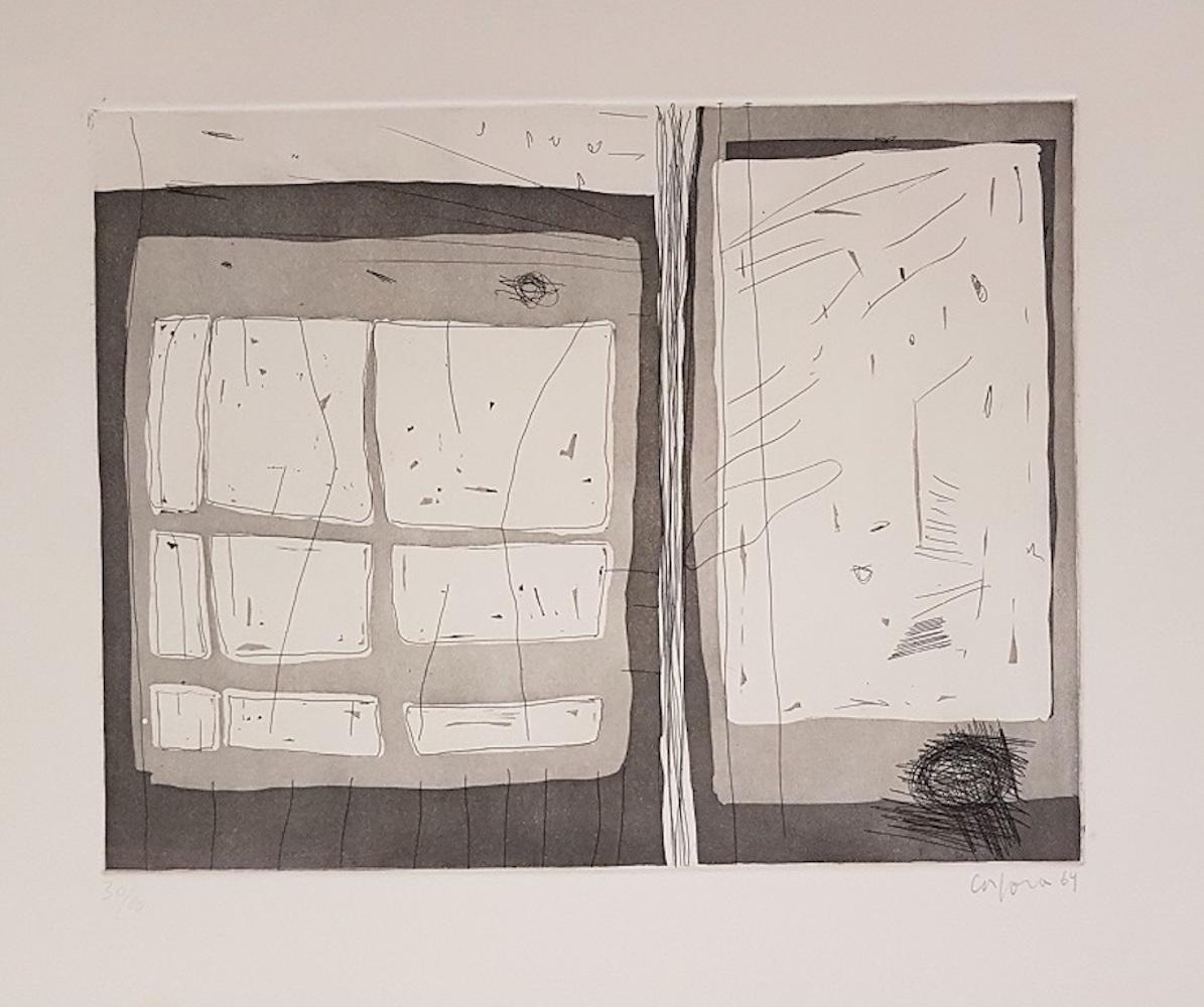 Untitled - Original Etching by Antonio Corpora - 1969