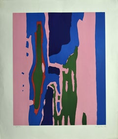 Untitled - Original Lithograph by A. Corpora - 1964