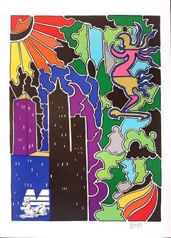 Composition - Original Lithograph by Antonio Cremonese - 1980s