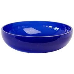Antonio da Ros 'attributed' for Cenedese Cobalt Blue Colored Murano Glass Bowl