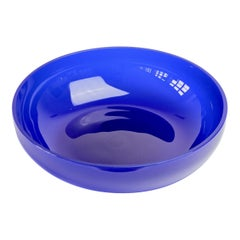 Antonio da Ros 'attr.' for Cenedese Large Cobalt Blue Colored Murano Glass Bowl