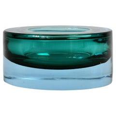 Antonio Da Ros for Cenedese Italian Murano Sommerso Glass Bowl, Dish or Ashtray