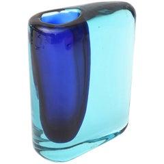 Antonio da Ros for Cenedese Murano Sommerso Glass Vase Vintage