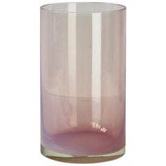 Antonio da Ros for Cenedese Pink 'Opalino' Murano Glass Colored Vase circa 1970s