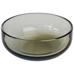 Antonio da Ros for Cenedese Smoked Gray Toned Colored Murano Glass Bowl