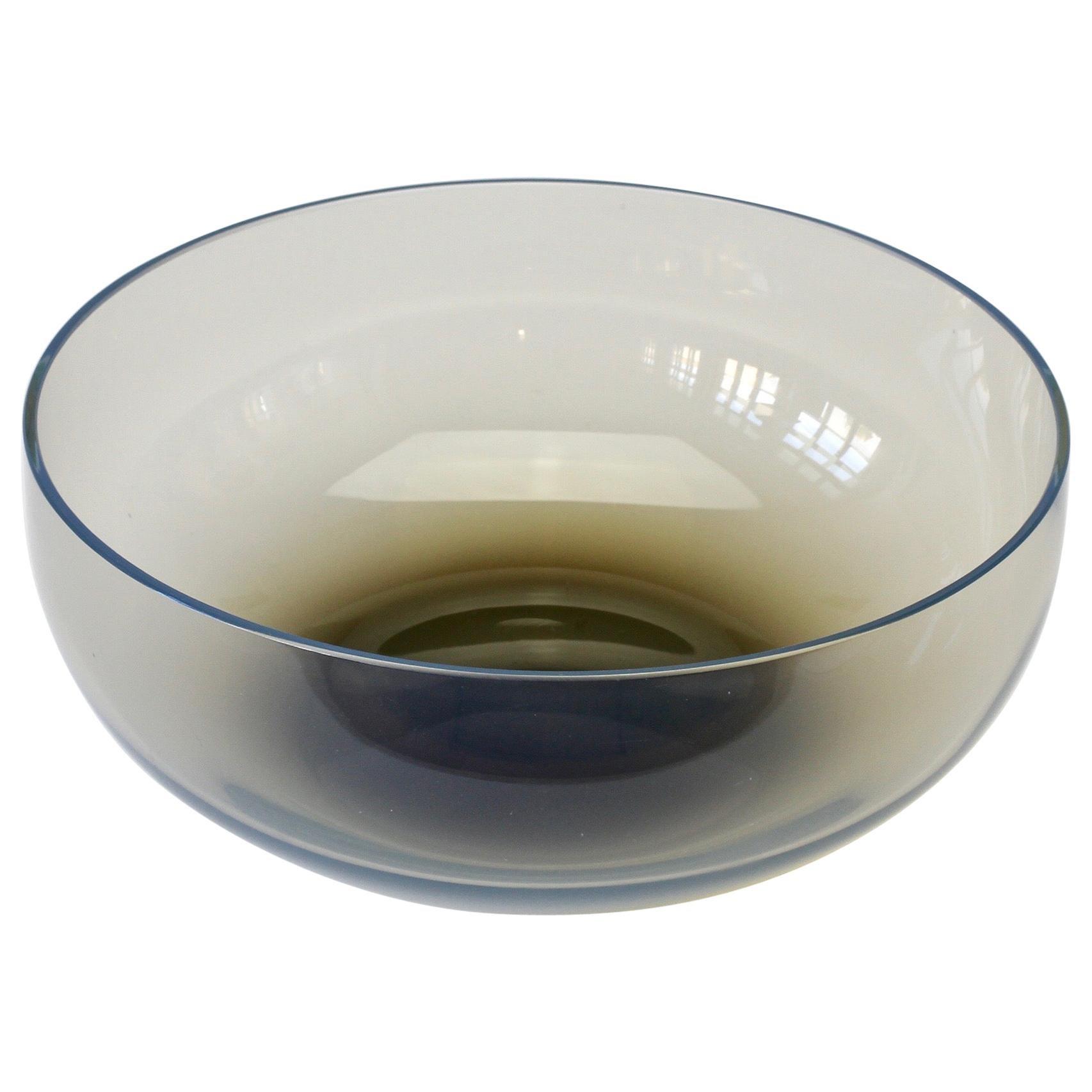 Antonio da Ros for Cenedese 'Smoked' Gray Vintage Murano Glass Bowl or Dish
