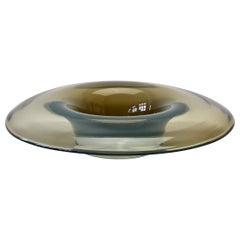 Antonio da Ros for Cenedese Vintage Italian Murano Opaline Glass Serving Bowl