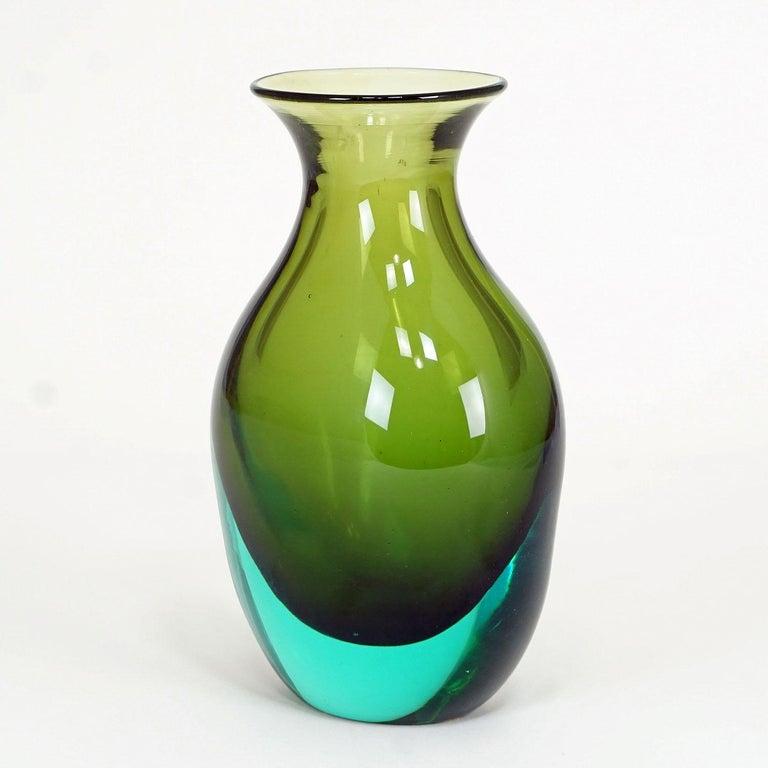 Mid-Century Modern Antonio da Ros for Gino Cenedese Sommerso Vase, circa 1960 For Sale