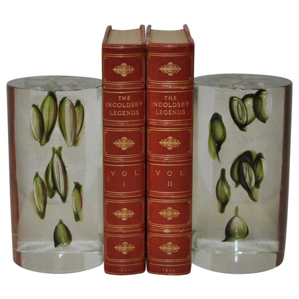Antonio da Ros Handmade Glass Sculptural Bookends, circa 1960