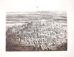 Arab City - Original Etching by Antonio de Totero - 1980 ca.
