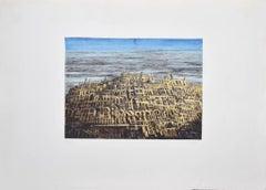 The City - Original Etching by Antonio de Totero - Late 20th Century