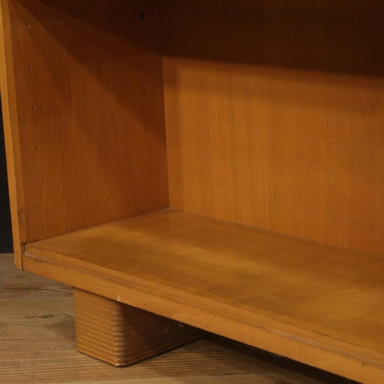Antonio Ferretti 20th Century Beech and Fruitwood Italian Design Bookcase, 1930 For Sale 8