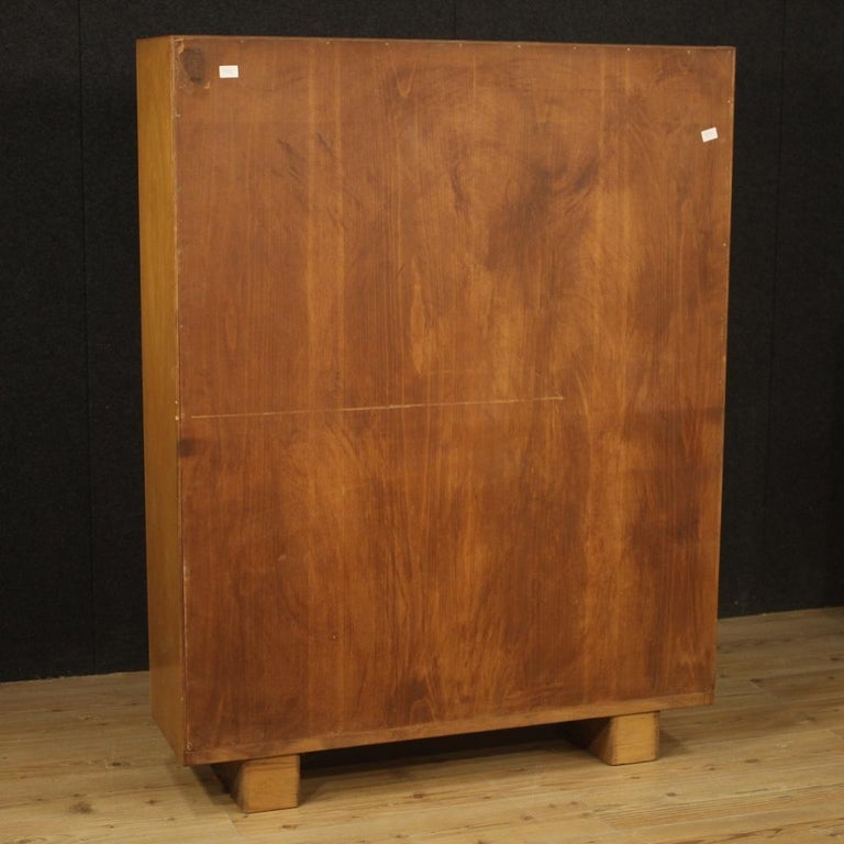 Antonio Ferretti 20th Century Beech and Fruitwood Italian Design Bookcase, 1930 For Sale 2