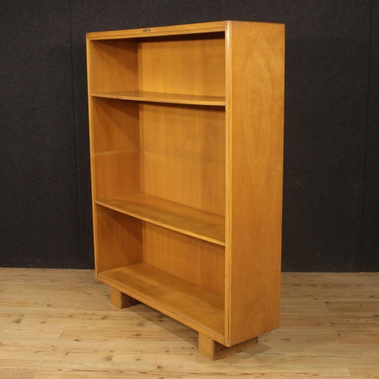 Antonio Ferretti 20th Century Beech and Fruitwood Italian Design Bookcase, 1930 For Sale 6