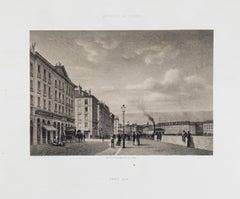 Grand Quai - Original Lithograph - 19th Century