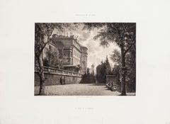 Le Bout de la Treille - Original Lithograph by Antonio Fontanesi - 1850 ca.