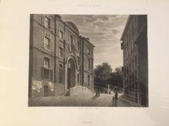 L'Hopital - Original Lithograph by Antonio Fontanesi - 1854