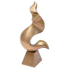 Antonio Grediaga Kieff Bronze Abstract Sculpture Vintage