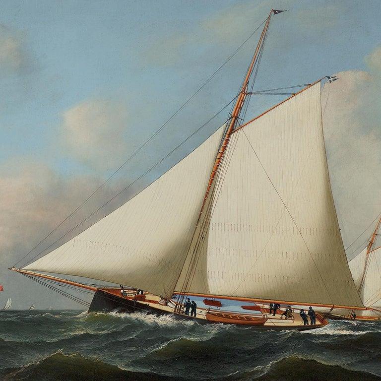 New York Yacht Club Race, 1878 - Academic Painting by Antonio Jacobsen