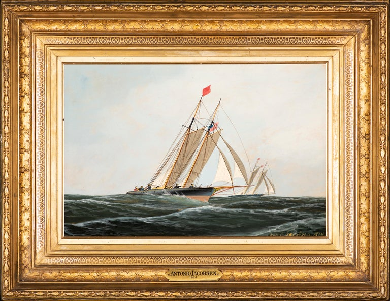 The Yacht Race - Painting by Antonio Jacobsen