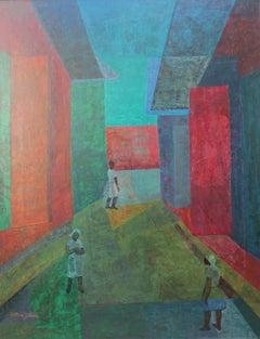 Cubist city, Haiti, by Haitian Modernist Guggenheim scholar Antonio Joseph