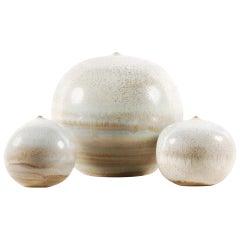 Antonio Lampecco, Set of 3 Spherical Ceramics