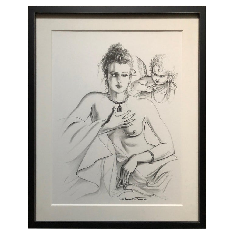 Antonio Lopez 1979 Coty Award Lithograph Barry Kieselstein-Cord For Sale