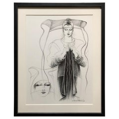Antonio Lopez 1979 Coty Award Lithograph Geoffrey Beene