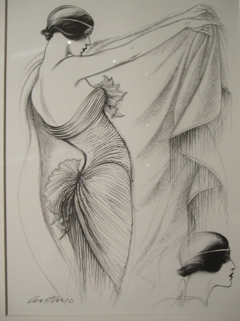 Women's Antonio Lopez 1979 Coty Award Lithograph Mary McFadden For Sale