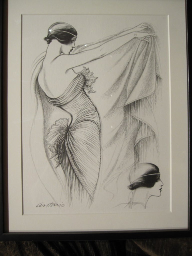 Antonio Lopez 1979 Coty Award Lithograph Mary McFadden For Sale 1