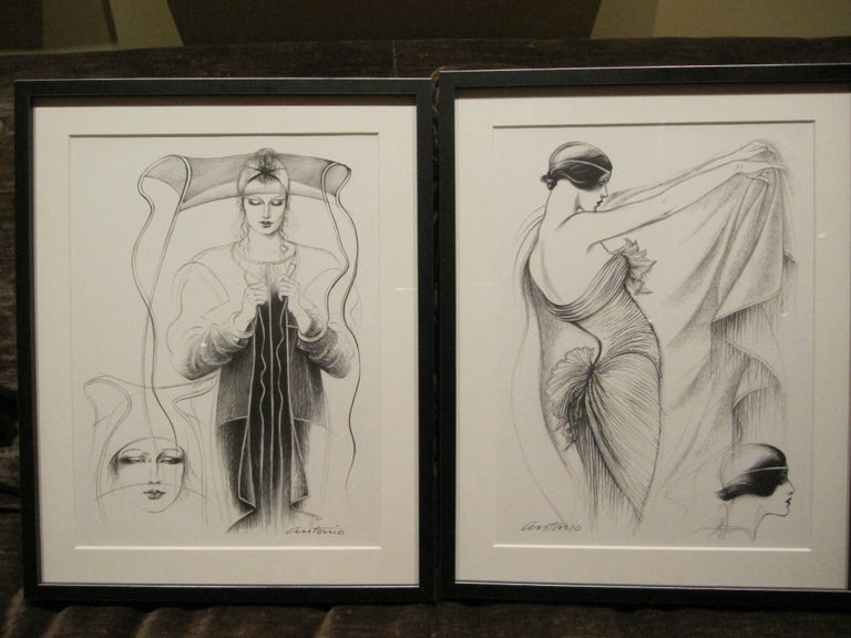 Antonio Lopez 1979 Coty Award Lithograph Mary McFadden For Sale 2