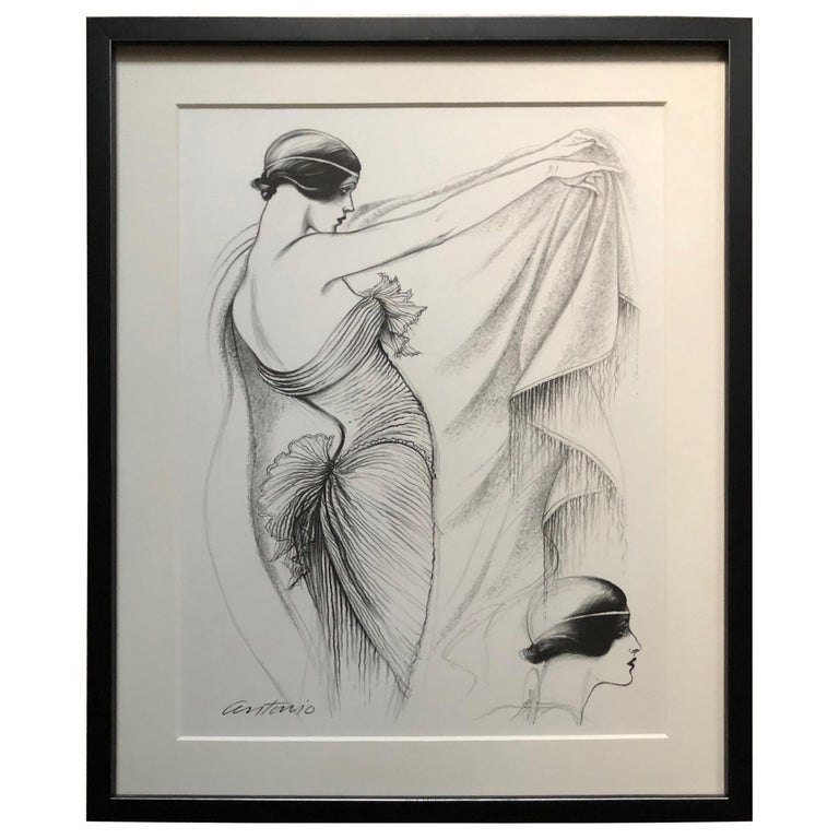 Antonio Lopez 1979 Coty Award Lithograph Mary McFadden For Sale