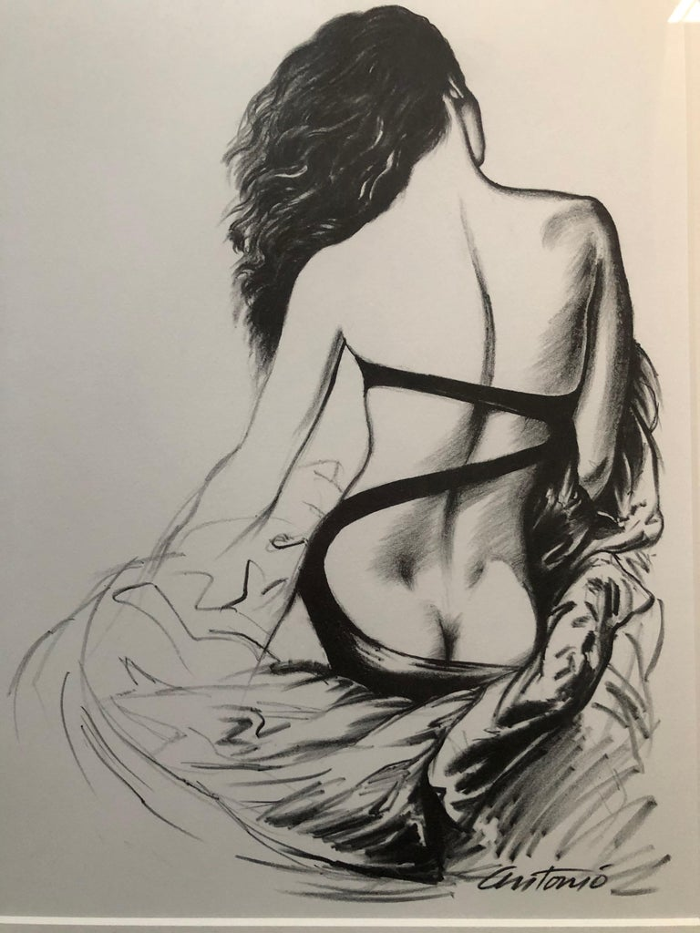 LIMITED EDITION ILLUSTRATION BY ANTONIO LOPEZ (1943 - 1987)  DESIGNER... Norma Kamali    Original lithographic print from a limited edition of 500 printed in 1979 after which, the original plates were destroyed. This is # 344 /500. It was part of a