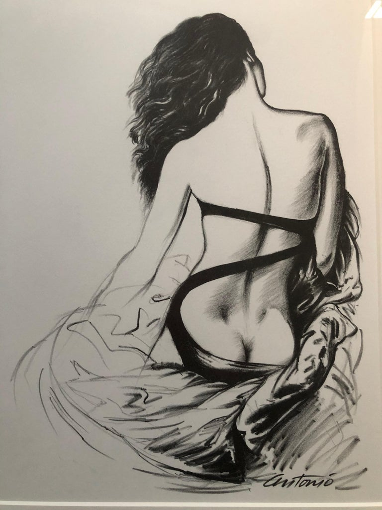 Antonio Lopez 1979 Coty Award Lithograph Norma Kamali In Excellent Condition For Sale In San Francisco, CA