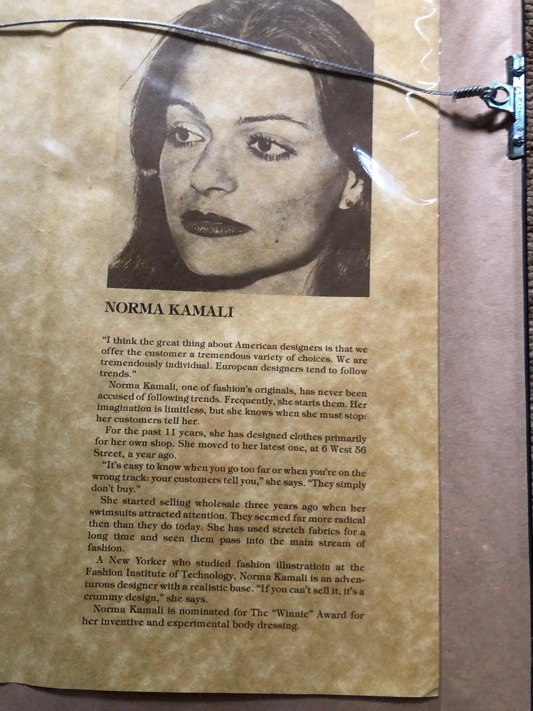 Antonio Lopez 1979 Coty Award Lithograph Norma Kamali For Sale 1