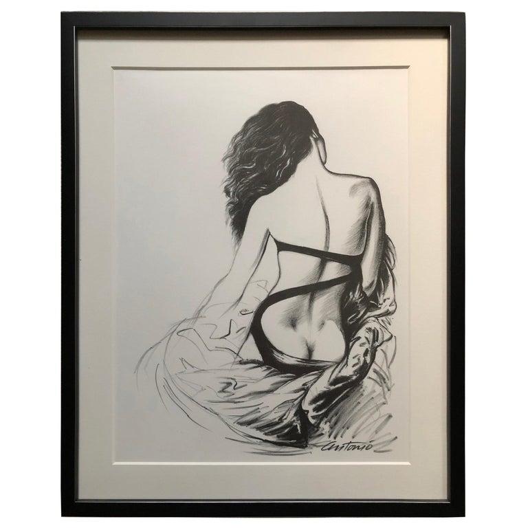 Antonio Lopez 1979 Coty Award Lithograph Norma Kamali For Sale