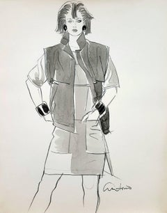 Stylish 80's Women, Fashion Illustration